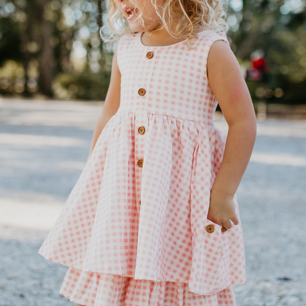 Prim Dress - Strawberry Gingham
