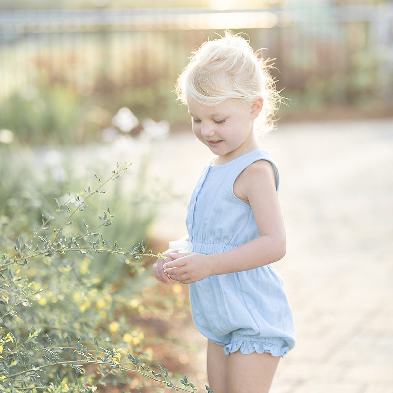 Recess Romper - Chambray