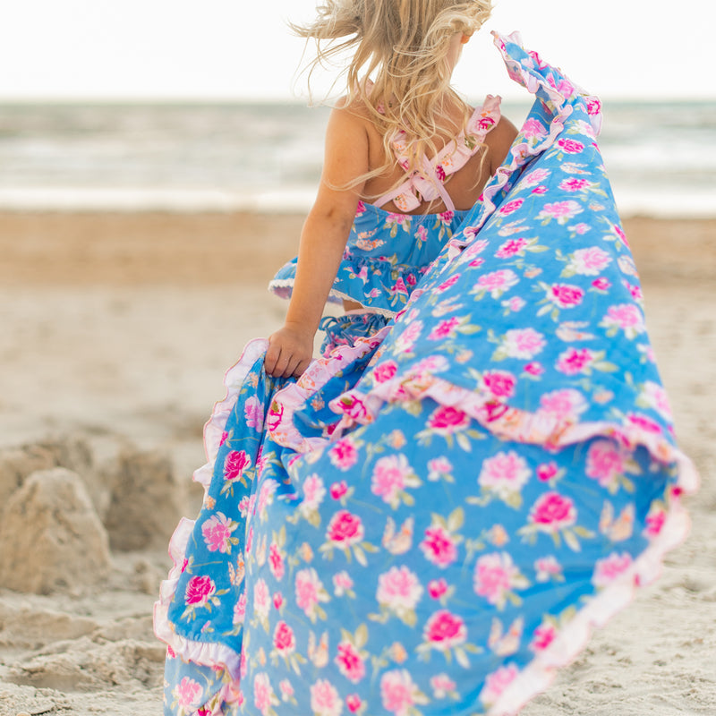 Ruffled Towel - Candy