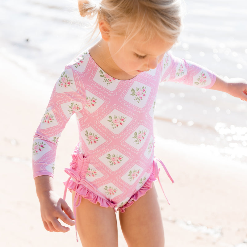 Solid Rash Guard - Strawberry Petit Four