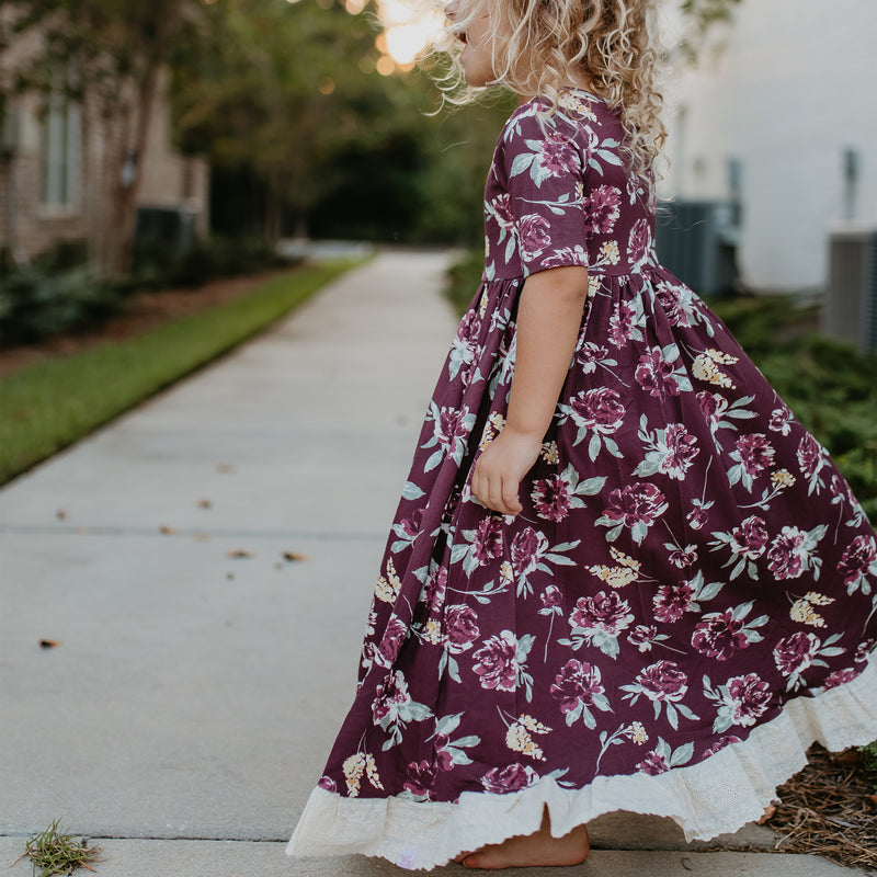 Sweet Dee Maxi - Garden Plum - Final Sale