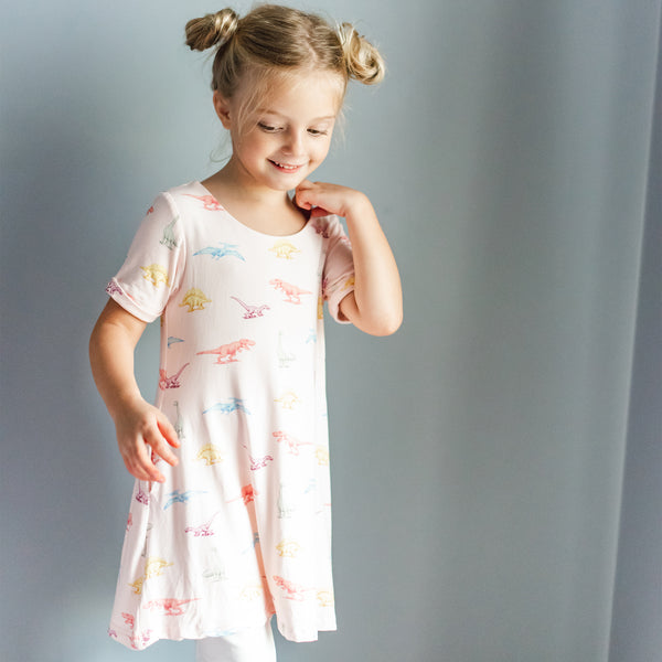 Swing Dress - Dinosaurs - Final Sale