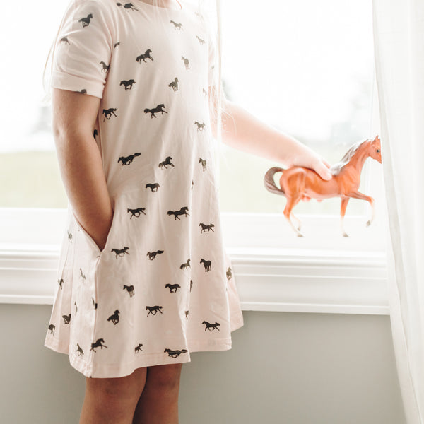Swing Dress - Wild Horses - Final Sale