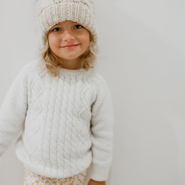 Thick Cableknit Sweater - Oatmeal