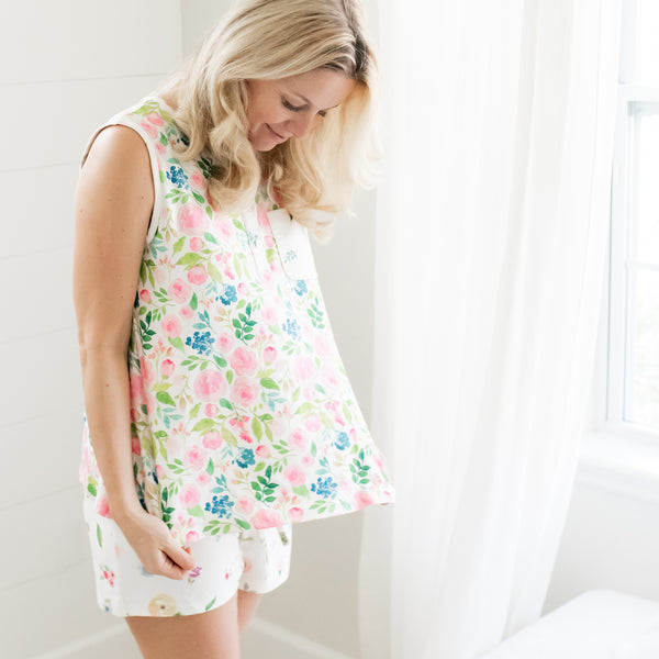Women's Shortie PJ - Fresh Blooms