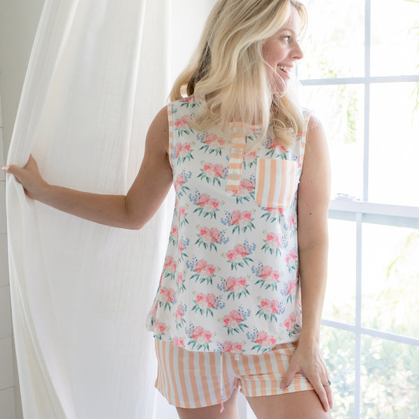 Women's Shortie PJ - Just Peachy