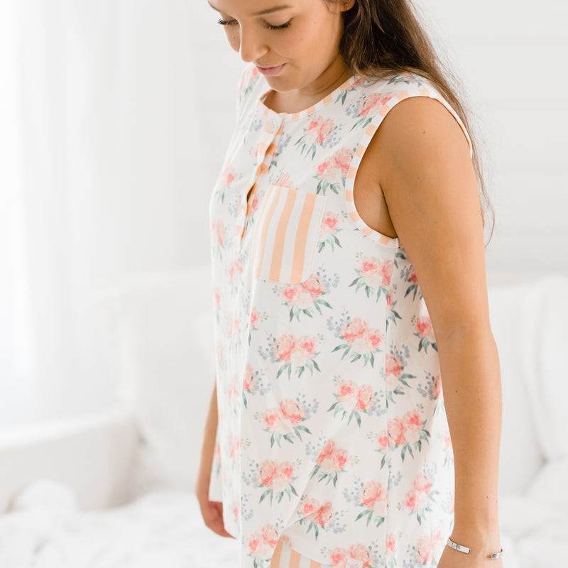 Women's Shortie PJ - Just Peachy - Final Sale
