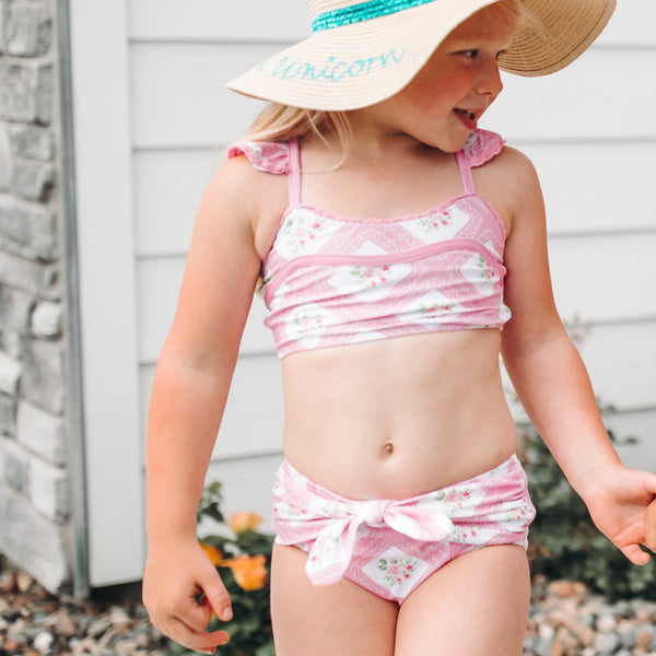 Retro Tankini - Strawberry Petit Four