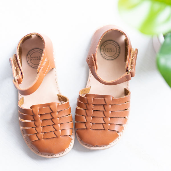 Huaraches Sandals - Camel- Final Sale