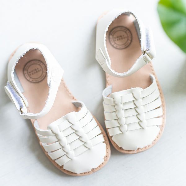 Huaraches Sandals - Ivory- Final Sale