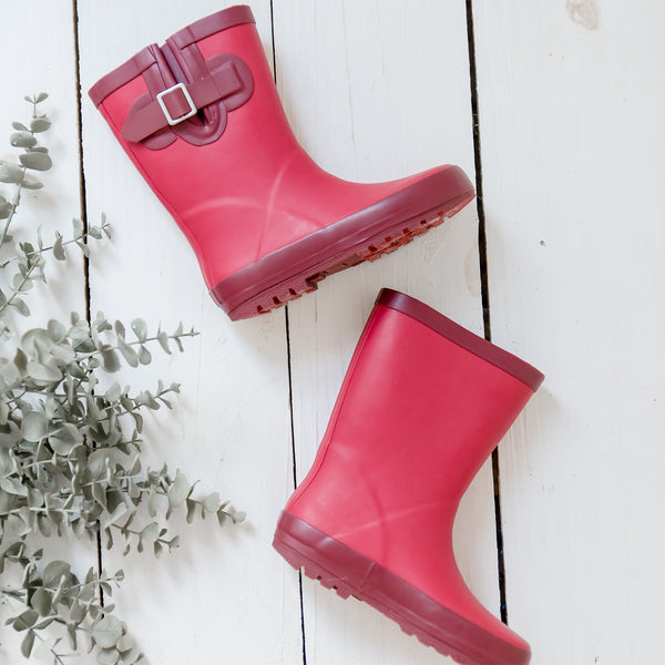 Rain Boot - Cranberry - Final Sale