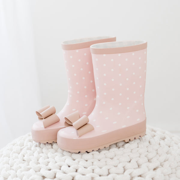 Rain Boot - Dainty Rose Dot - Final Sale