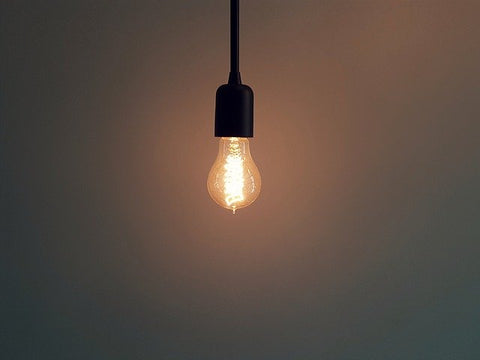 An incandescent bulb with warm light