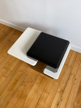 Load image into Gallery viewer, BLACK & WHITE MELAMINE SIDE TABLE