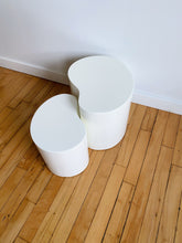 Load image into Gallery viewer, WHITE MELAMINE BEAN SIDE TABLES