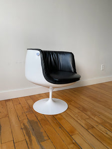 SPACE AGE FIBERGLASS & VINYL TULIP CHAIR