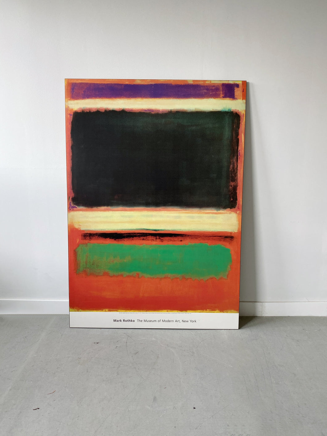 LARGE MARK ROTHKO POSTER, THE MUSEUM OF MODERN ART, NY