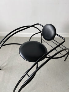 BLACK METAL QUEBEC 69 SPIDER CHAIR BY LES AMISCA