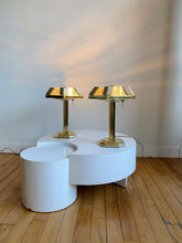 Load image into Gallery viewer, BAKALOWITS ART DECO BRASS & CRYSTAL TABLE LAMPS