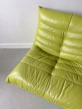 Load image into Gallery viewer, LIME GREEN LEATHER SINGLE SOFA / ARMCHAIR