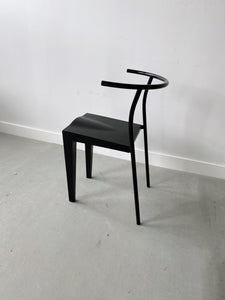 BLACK DR. GLOB CHAIR BY PHILLIPE STARCK FOR KARTELL