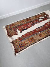 Load image into Gallery viewer, TURKISH KONYA RUG & WHITE KILIM PATCHWORK