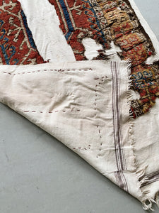 TURKISH KONYA RUG & WHITE KILIM PATCHWORK