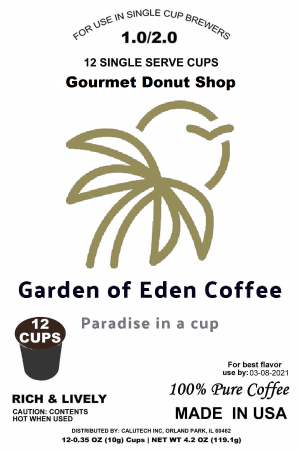 12 Pack K Cup Gourmet Donut Shop Coffee