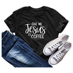 Load image into Gallery viewer, Give Me Jesus & Coffee T-Shirt Women Short Sleeve