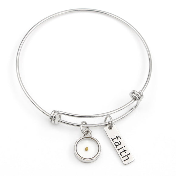 Faith of a Mustard Seed Bangle Bracelets
