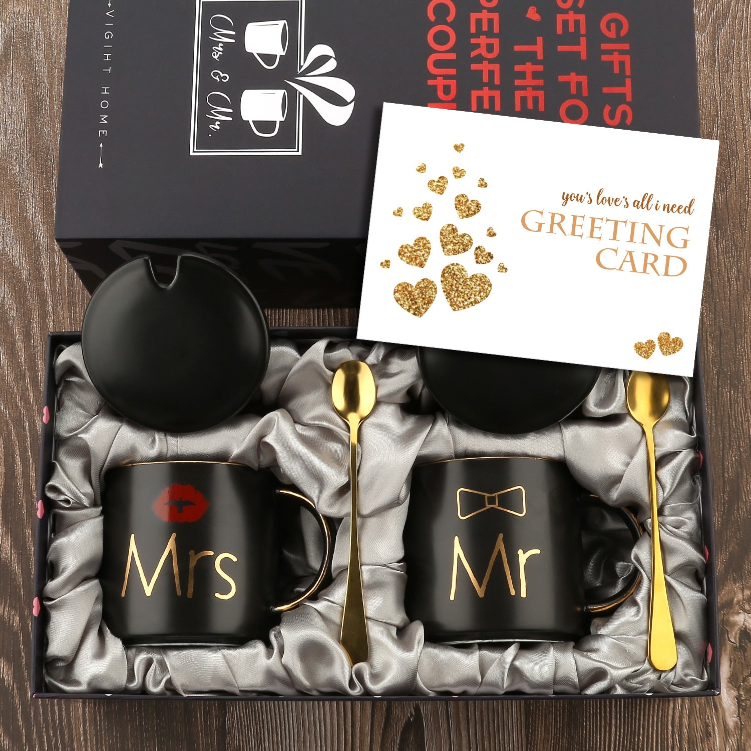Mr. and Mrs. Coffee Mugs Cups Gift