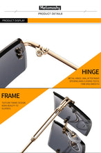 Load image into Gallery viewer, New! Fashion Rimless Rectangle UV400 Sunglasses