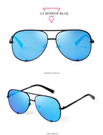 Load image into Gallery viewer, Oversized Fashion Aviator Sunglasses Women UV4OO Shades