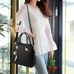 Load image into Gallery viewer, Fashion Women's Tassel PU Leather with Shoulder Strap Handbag