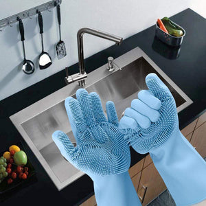 Reusable Silicon Cleaning Gloves