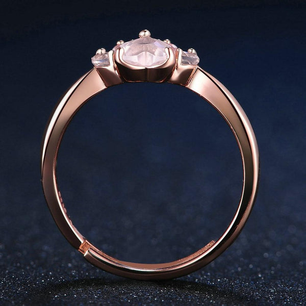 Bague Patte de Chat Quartz rose BijouxFemmes