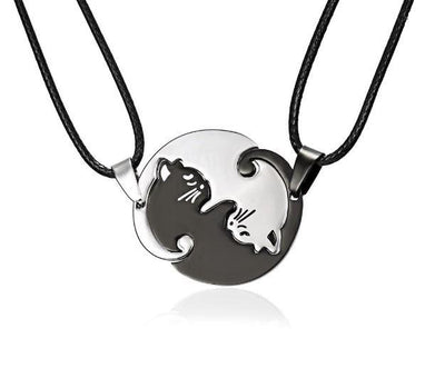 COLLIER CHAT YIN ET YANG (lot de 2) BijouxFemmes