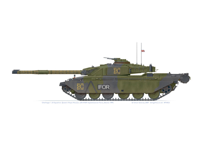 Challenger 1, Queen's Royal Hussars, IFOR