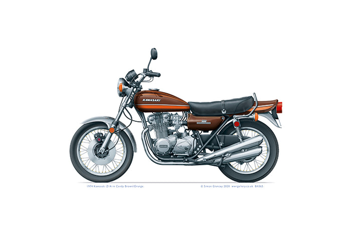 1974 Kawasaki Z1A Candy Brown and Orange