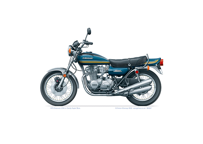 1975 Kawasaki Z1B Candy Super Blue
