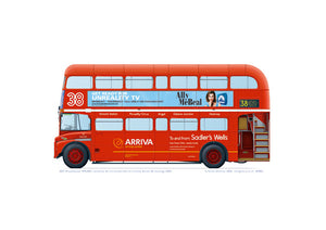 Arriva Routemaster 897 with Route 38 brand