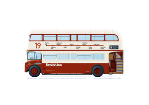 AEC Routemaster RML2574 of Kentish Bus with Route 19 branding from 1993