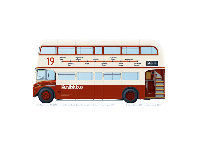 AEC Routemaster RML2574 Kentish Bus 1993