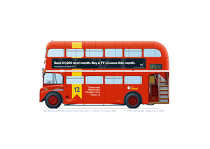 London General Routemaster RM2051 Route 12 branding