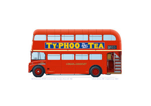 Routemaster RM1074 1962 A3 print
