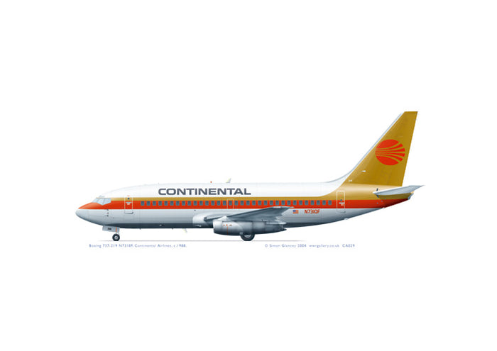 Boeing 737-219 Continental Airlines