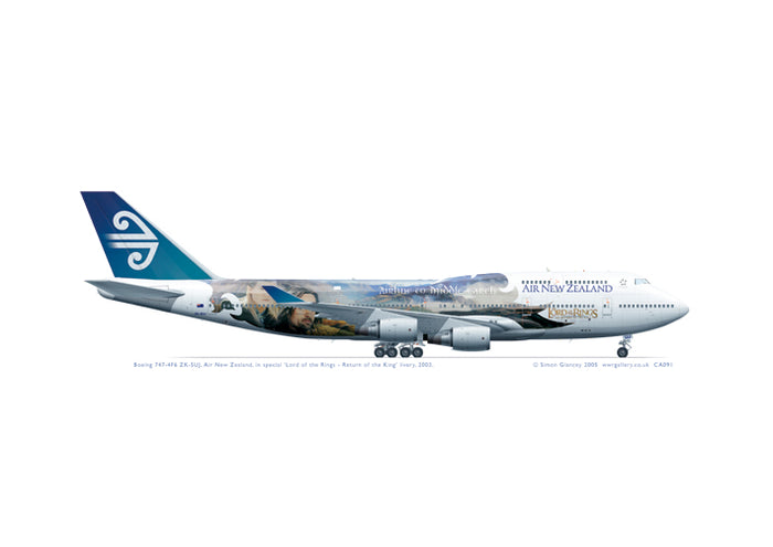 Boeing 747-4F6 ZK-SUJ Air New Zealand