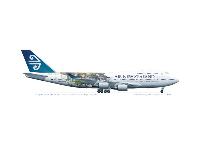 Boeing 747-419 ZK-NBV Air New Zealand