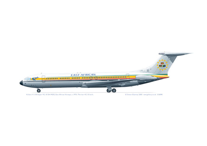 Vickers V.1154 Super VC-10 East African Airways  5H-MOG