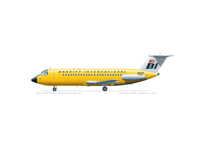 BAC 111-203AE Braniff International
